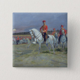 Tsarevich Nicolas  Reviewing the Troops, 1899 15 Cm Square Badge