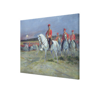 Tsarevich Nicolas  Reviewing the Troops, 1899 Canvas Print