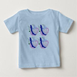 Tshirt blue with Seashells