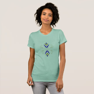 Tshirt green with Mandala geometric