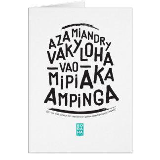tshirt vaky loha greeting card