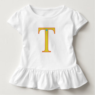 Tshirt with letter T and love heart