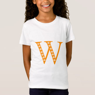 Tshirt with letter W and floral motif