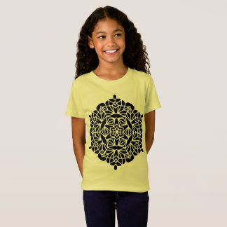 Tshirt yellow with mandala