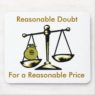 tshirtscale, Reasonable Doubt, For a Reasonable... Mouse Mat