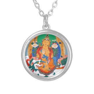 TSONGKHAPA'S FIVE VISIONS SILVER PLATED NECKLACE
