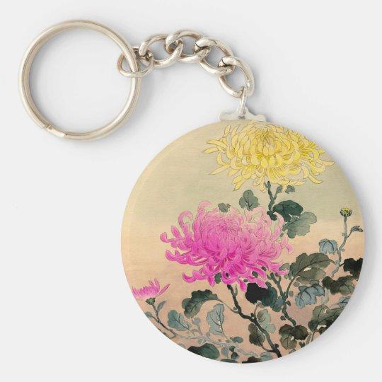 Tsuchiya Koitsu 土屋光逸 - Chrysanthemum 菊 Basic Round Button Key Ring
