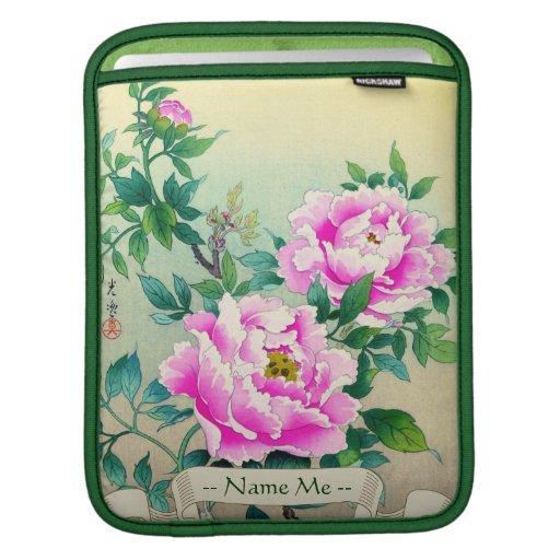 Tsuchiya Koitsu Peonies japanese flowers fine art Sleeves For iPads