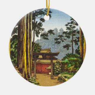 Tsuchiya Koitsu Sketches of Famous Places In Japan Round Ceramic Decoration