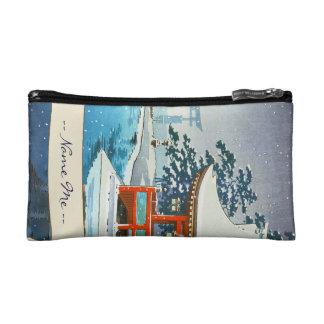 Tsuchiya Koitsu Snowy Miyajima winter scenery art Cosmetic Bag