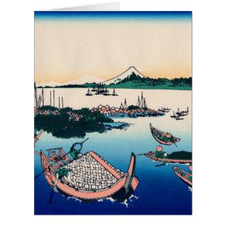 Tsukada Island in the Musashi province Big Greeting Card