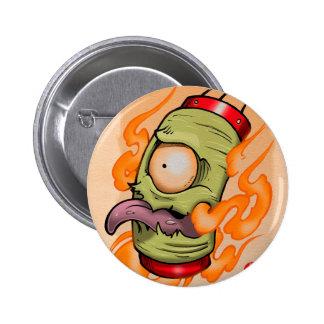 Tsukumogami lantern 6 cm round badge