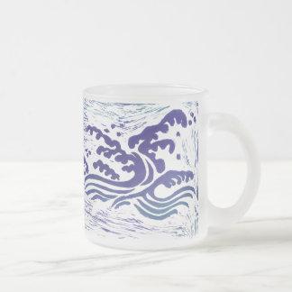 Tsunami Frosted Glass Mug