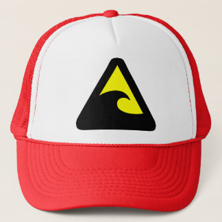 Tsunami Hazard Sign Trucker Hat