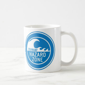 TSUNAMI HAZARD ZONE BASIC WHITE MUG