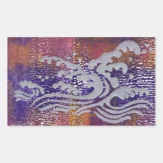 Tsunami Rectangular Stickers