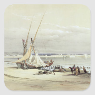 Tsur, ancient Tyre, April 27th 1839, plate 69 from Square Sticker
