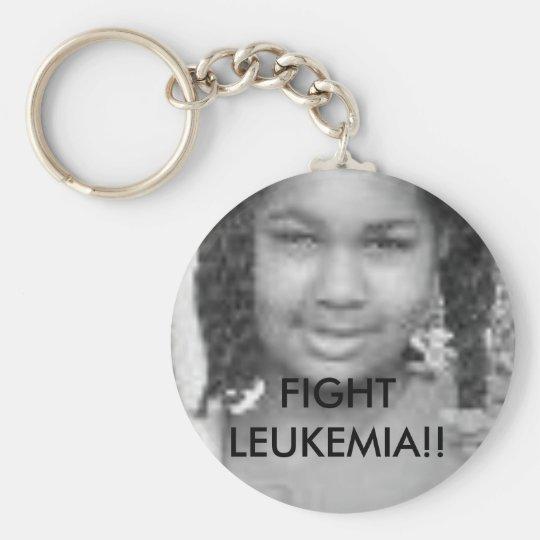 tt FIGHT LEUKEMIA - Customised - Customised Basic Round Button Key Ring