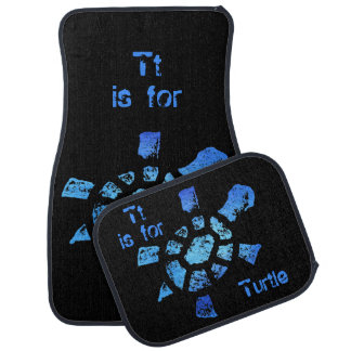 Tt is for Turtle Car Mat