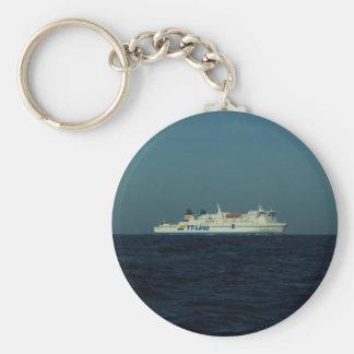 TT Line Ferry Basic Round Button Key Ring