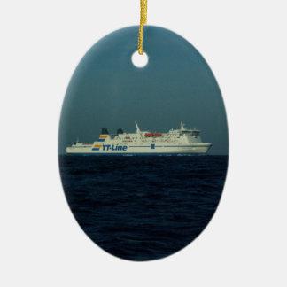 TT Line Ferry Ceramic Oval Decoration