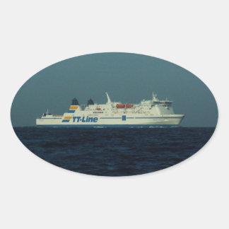 TT Line Ferry Oval Sticker