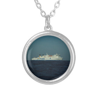 TT Line Ferry Silver Plated Necklace