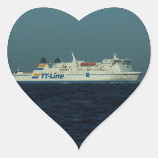 TT Line Ferry Heart Stickers