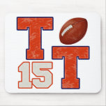 TT Number 15 Football Mouse Pads