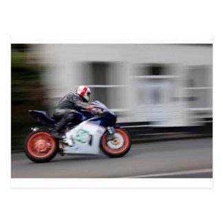 TT Racer Postcard