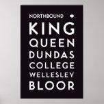 TTC - Northbound Stations Poster