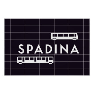 TTC - Spadina Station Trains Poster