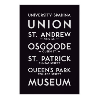 TTC - University-Spadina Poster