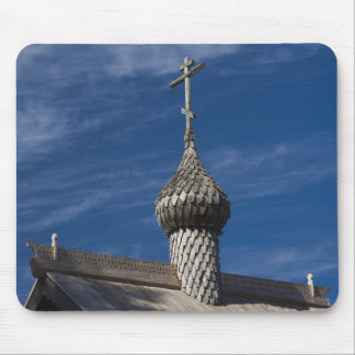 Ttraditional wooden Russian Orthodox church Mouse Pad