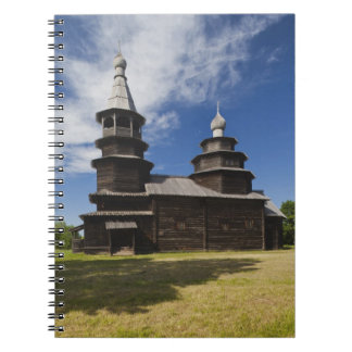 Ttraditional wooden Russian Orthodox church Note Book