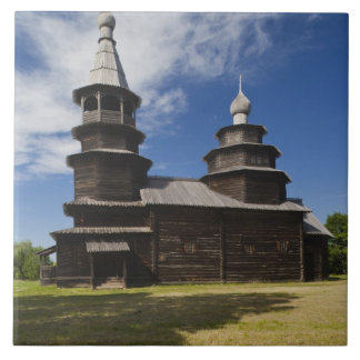 Ttraditional wooden Russian Orthodox church Tile