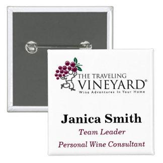 TTVlogo_3color_hi, Janica Smith, Personal Wine ... 15 Cm Square Badge