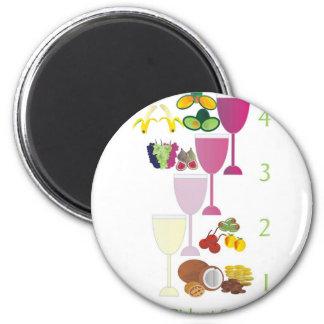 Tu Bishvat Seder Refrigerator Magnets
