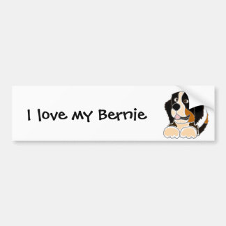 TU- Funny Bernese Mountain Dog Original Art Bumper Sticker