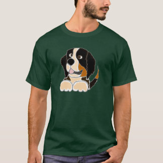 TU- Funny Bernese Mountain Dog Original Art T-Shirt