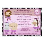 Tu Tu Cute Baby Shower invitation MONKEY GIRL TTC2 13 Cm X 18 Cm Invitation Card