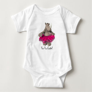 Tu-Tu Cute! Rhino Baby T-Shirt White