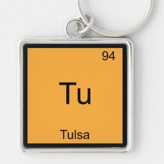 Tu - Tulsa City Chemistry Element Symbol T-Shirt Key Ring