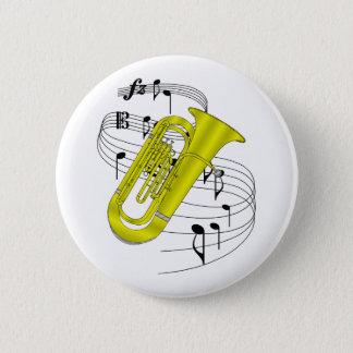 Tuba 6 Cm Round Badge