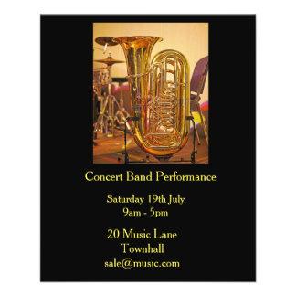 Tuba concert band brass band music performance flyer