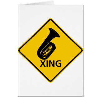 Tuba Crossing Highway Sign Card