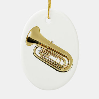 """""""Tuba"""" design gifts and products Ceramic Oval Decoration"""