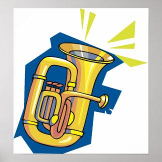 Tuba Instrument Poster