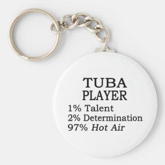 Tuba Player Hot Air Key Ring
