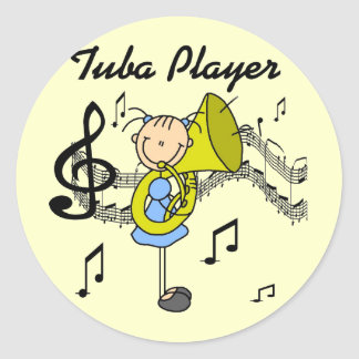 Tuba Player Tshirts and Gifts Round Sticker